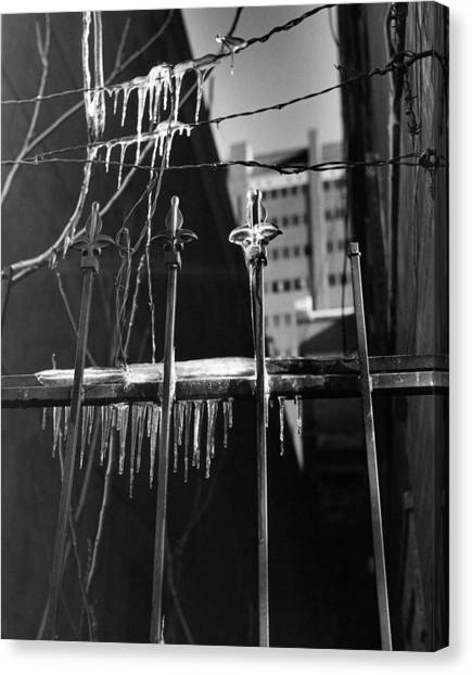 Icy Gates Canvas Print by Jim Furrer