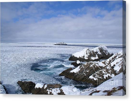 Icy Ocean Slush Canvas Print
