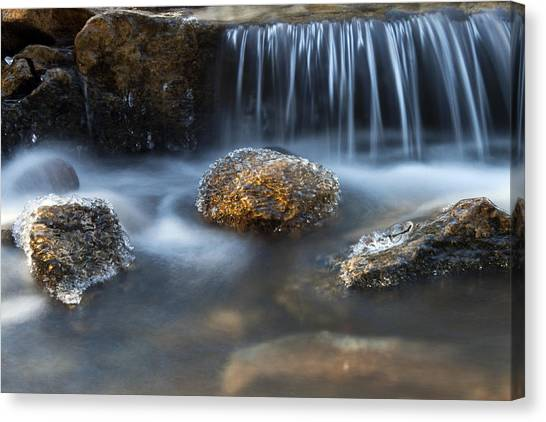 Icy Rocks On The Coxing Kill #1 Canvas Print
