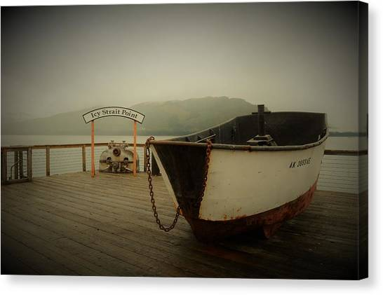 Icy Strait Point Boat Canvas Print