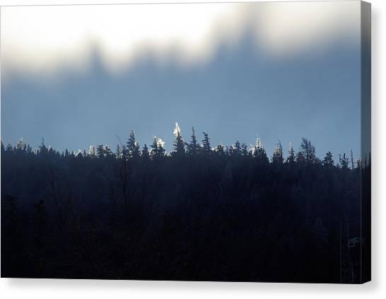 Icy Sunrise Canvas Print