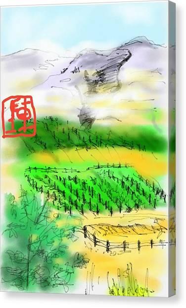 Idaho Vineyard Canvas Print