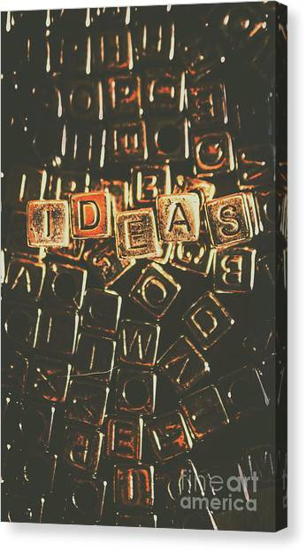 Desks Canvas Print - Ideas Letterpress Typography by Jorgo Photography - Wall Art Gallery