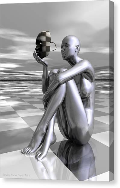 Canvas Print featuring the digital art Identity by Sandra Bauser Digital Art