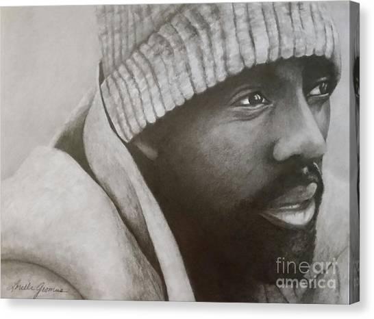 Idris Elba Canvas Print by Lorelle Gromus