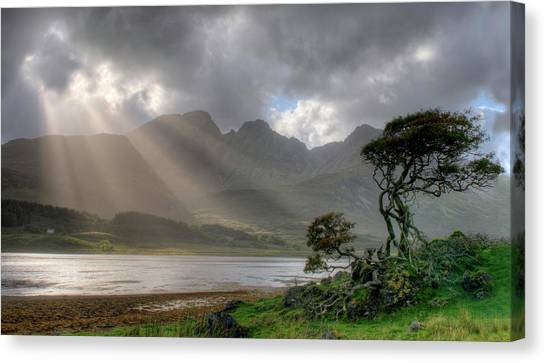 Nature Landscape Isle Of Sky Scotland Canvas Print