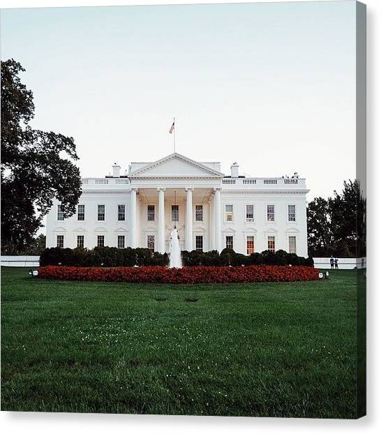 United States Of America Canvas Print - the White House at sunset by Connor Goad