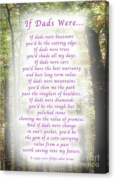 If Dads Were Greeting Card And Poster Canvas Print