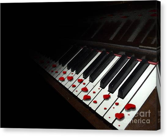If Music Be The Food Of Love... Play On Canvas Print