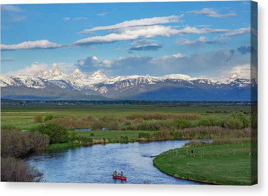 Teton National Forest Canvas Print - If My Ship Sails From Sight, It Doesn't Mean My Journey Ends, It by Bridget Calip