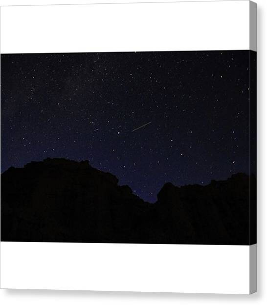 Starry Night Canvas Print - If Only The Night Sky Looked Like This by Riya Sony