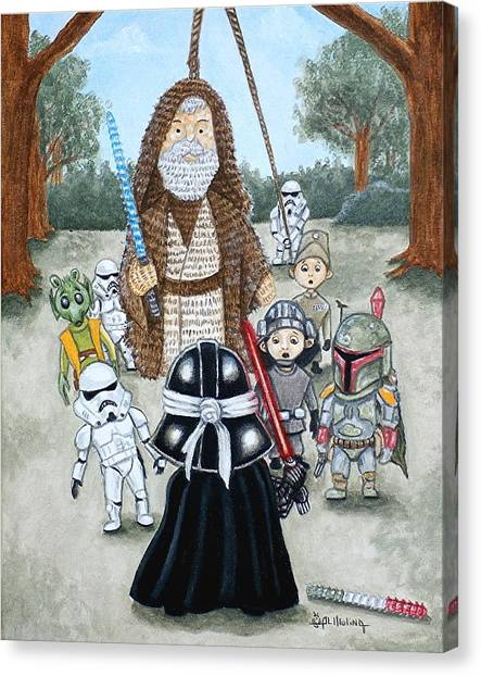If You Strike Me Down I Shall Reward You With Candy Canvas Print by Al  Molina