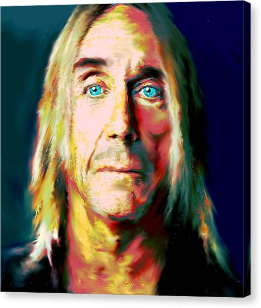 Trainspotting Canvas Print - Iggy Pop 1  by Enki Art