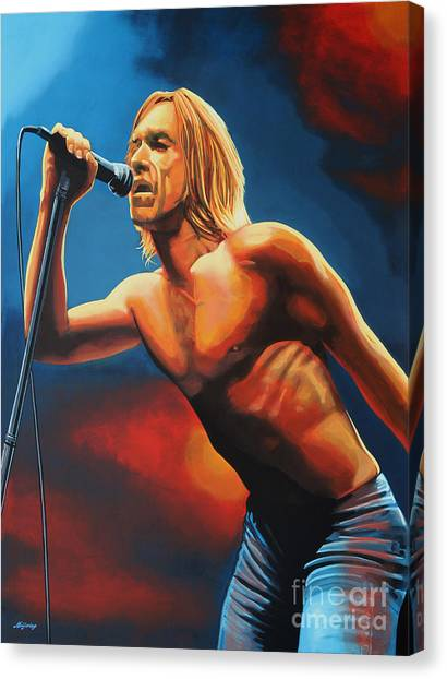 Iguanas Canvas Print - Iggy Pop Painting by Paul Meijering