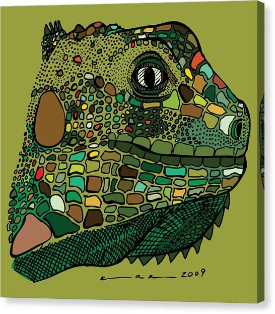 Iguana - Color Canvas Print by Karl Addison