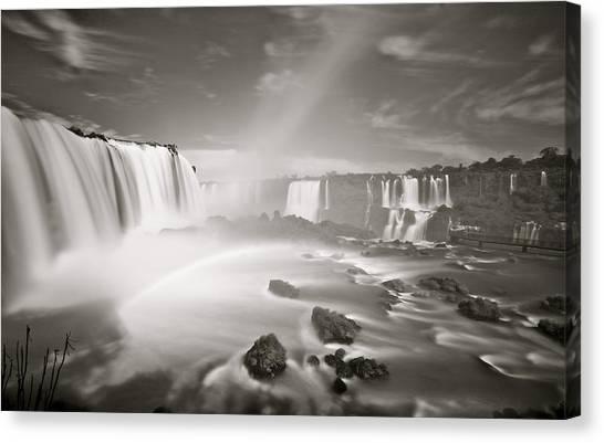 Iguazu Falls Canvas Print - Iguazu Falls, Brazil by Mark Nowoslawski