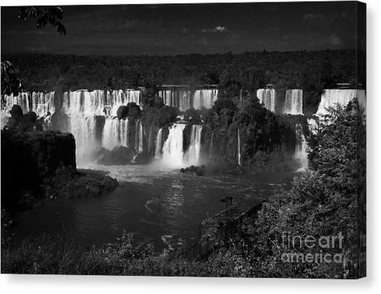 Iguazu Falls Canvas Print - Iguazu Falls Seen From The Brazilian Side Of Iguacu National Park Brazil Brasil by Joe Fox