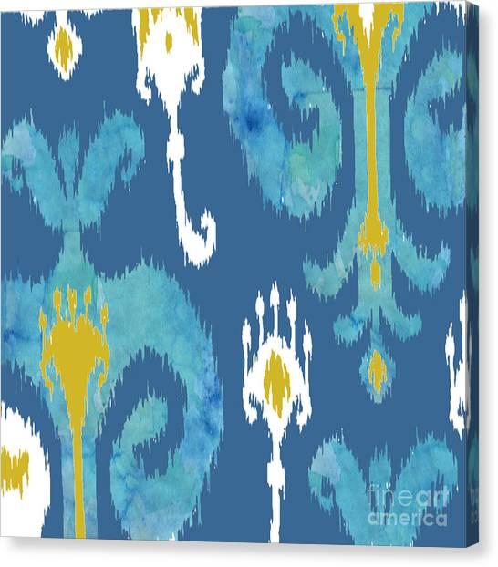 Dye Canvas Print - Ikat  by Ramneek Narang