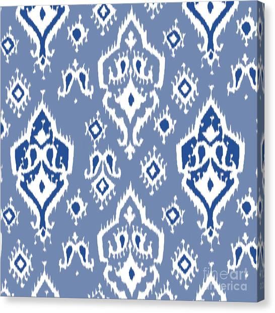 Pattern Canvas Print - Ikat Wall Art Print by Ramneek Narang