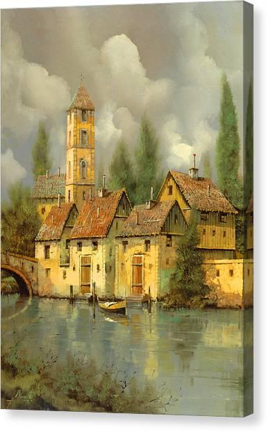 Villages Canvas Print - Il Campanile Di Villa Giusti by Guido Borelli