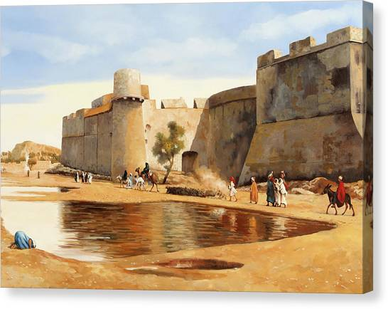 Castle Canvas Print - Il Castello by Guido Borelli