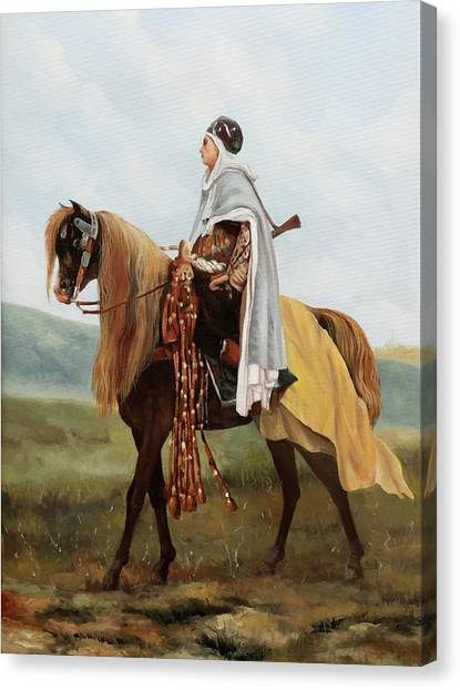 Knights Canvas Print - Il Cavaliere Giallo by Guido Borelli