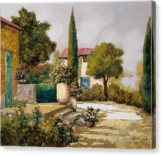 Cypress Canvas Print - Il Cipresso by Guido Borelli