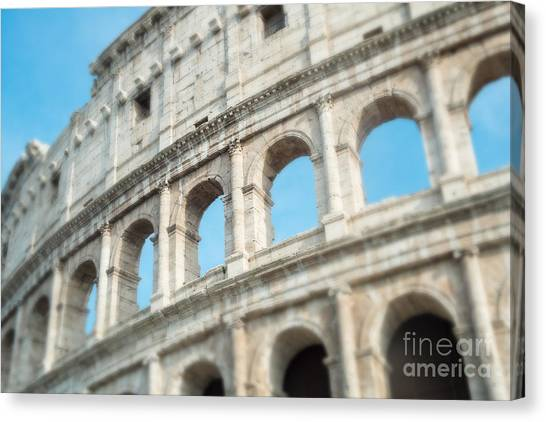 The Colosseum Canvas Print - Il Colosseo by Sonja Quintero