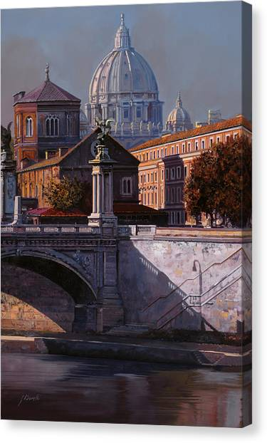 Rivers Canvas Print - Il Cupolone by Guido Borelli