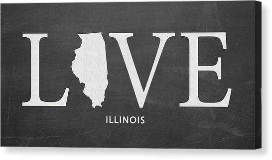 Illinois State University Canvas Print - Il Love by Nancy Ingersoll