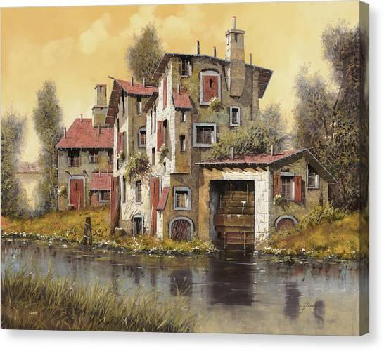 Mills Canvas Print - Il Mulino Giallo by Guido Borelli