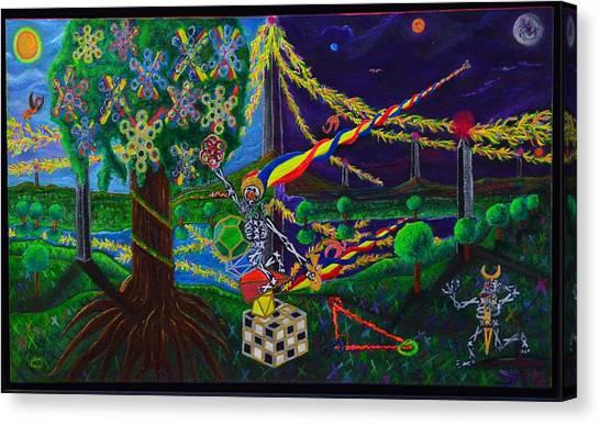 Il Paradiso Il Modello Della Genesi Canvas Print