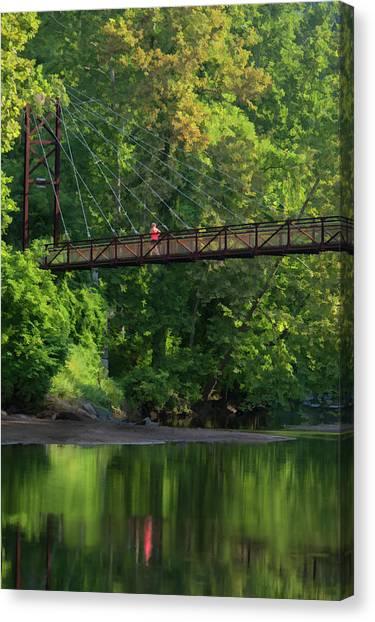 Ilchester-patterson Swinging Bridge Canvas Print
