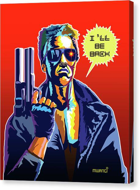 Arnold Schwarzenegger Canvas Print - I'll Be Back by Anthony Mwangi