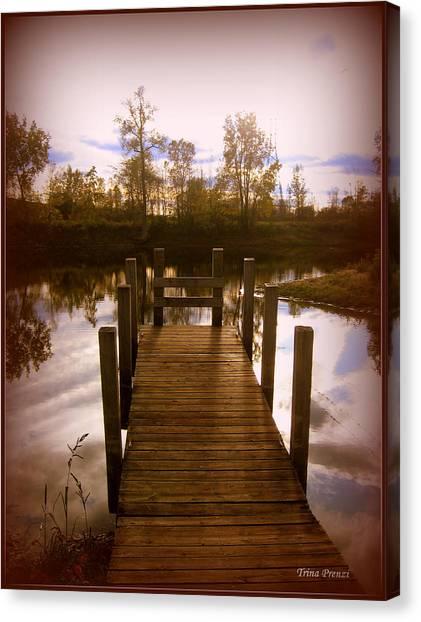 I'll Meet You At The Dock Canvas Print by Trina Prenzi