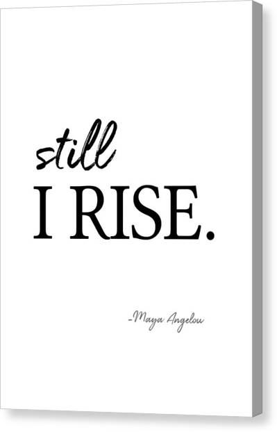 I'll Rise #minimalism 3 Canvas Print