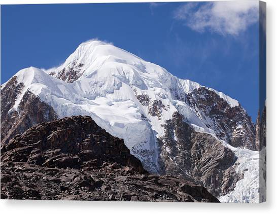 Illampu Mountain Canvas Print
