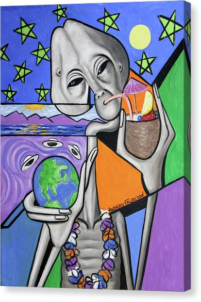 Illegal Aliens Canvas Print - Illegal Alien Anthony Falbo by Anthony Falbo