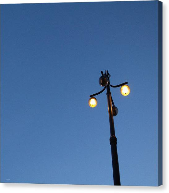 Street Lamp Canvas Print - Illuminated by Linda Woods