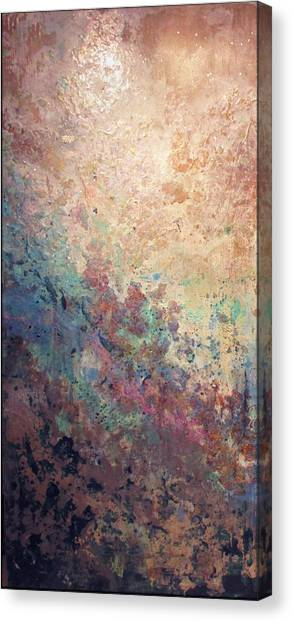Metallic Canvas Print - Illuminated Valley I Diptych by Shadia Derbyshire