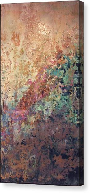 Metallic Canvas Print - Illuminated Valley II Diptych by Shadia Derbyshire