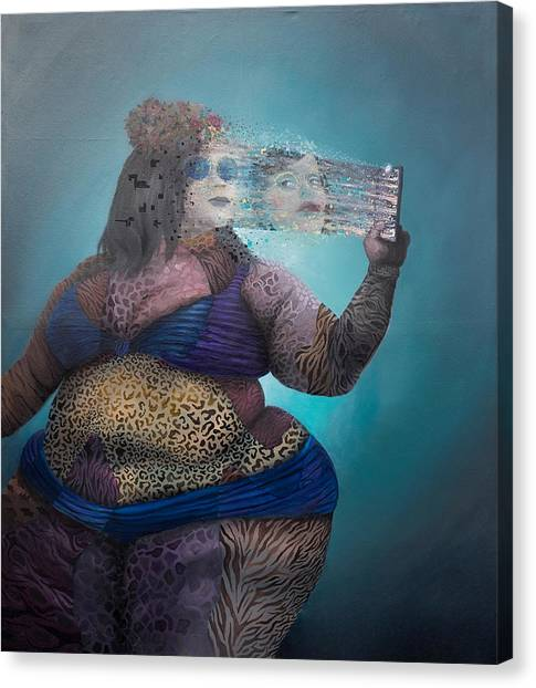 Canvas Print featuring the painting Illusion by Obie Platon