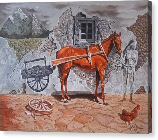 Illusion Of Presence Canvas Print by Ramaz Razmadze