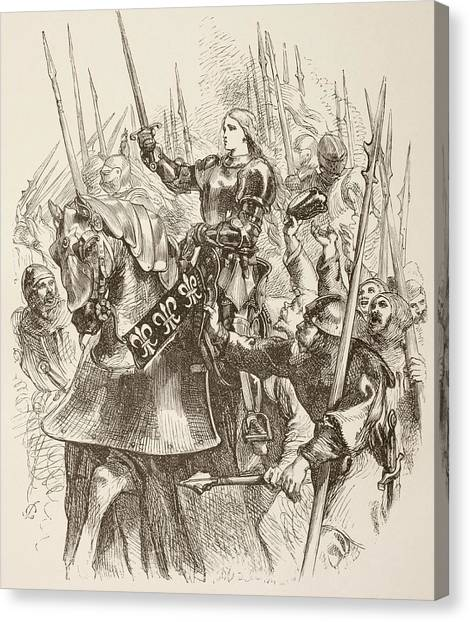 Lead Character Canvas Print - Illustration By Sir John Gilbert Of by Vintage Design Pics