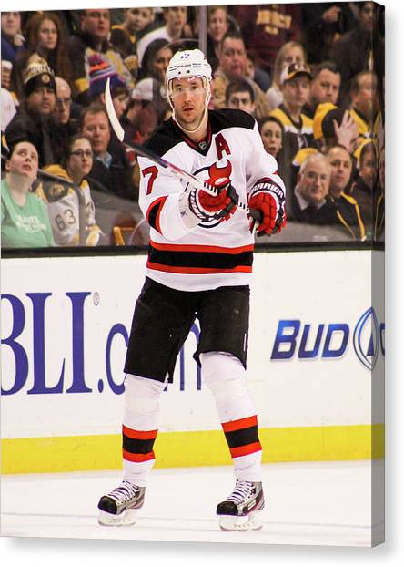 New Jersey Devils Canvas Print - Ilya Kovalchuk by Positive Images