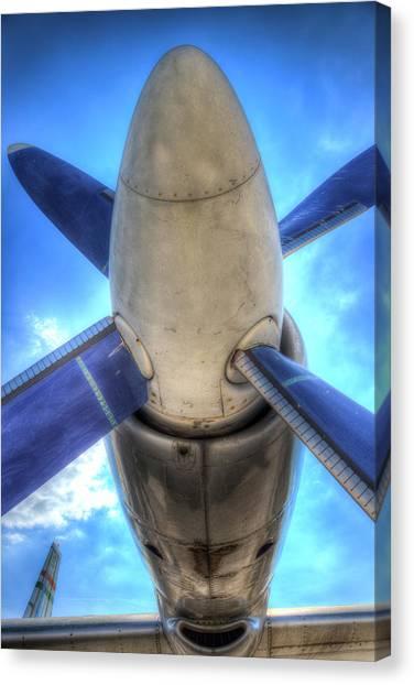 Ilyushin Canvas Print - Ilyushin Il-18 Turboprop Engine by David Pyatt
