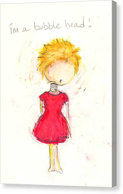 Im A Bobble Head Canvas Print by Ricky Sencion