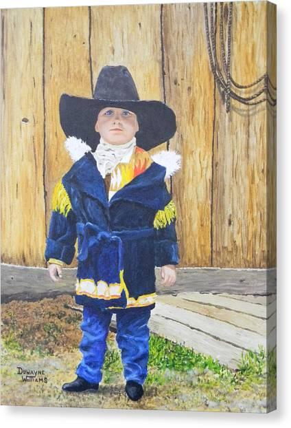 I'm A Cowboy Canvas Print