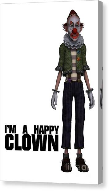Boobies Canvas Print - I'm A Happy Clown by Esoterica Art Agency
