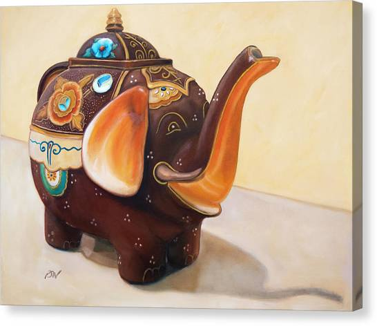 I'm A Little Teapot - Original Oil Painting Canvas Print